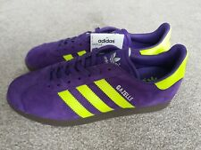 Adidas Originals Gazelle Trainers Size 7.5 Brand New unity purple and yellow