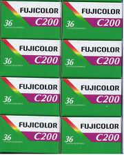 8 Rolls Fuji Fujicolor C200 36 Ca 200 asa 36 exp, 35mm Color Film Fresh
