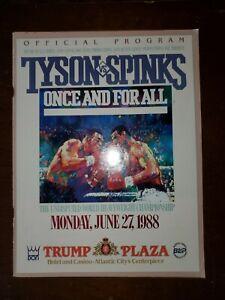 Tyson VS Spinks Official Program 1988 Trump Plaza