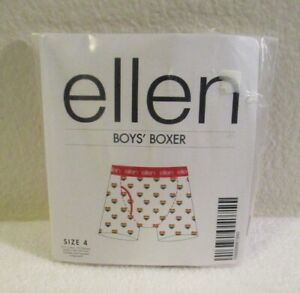 NWT The Ellen DeGeneres Show Boys Rainbow Hearts Boxer Briefs 4 White
