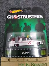 Hot Wheels Retro Entertainment GHOST BUSTERS ECTO-1 Real Riders Rubber Tires