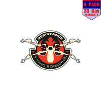 X Wing Squadron Star Wars 4 Stickers 4X4 Inch Sticker Decal