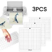 "3pack 12"" Replacement Cutting Mat Transparent Adhesive Grid for Silhouette Cameo"