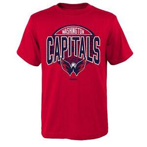 Reebok NHL Youth Washington Capitals Short Sleeve Totally Cool Tee, Red