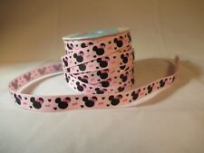 "GROSGRAIN MINNIE MOUSE 3/8"" RIBBON - 3 YARDS"