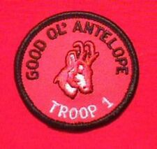 GOOD OL ANTELOPE Round Patrol Patch Wood Badge Course Cub Boy Scout beads BSA