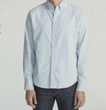 Rag & Bone Men's Blue Longs Sleeve Oxford Shirt Size Large