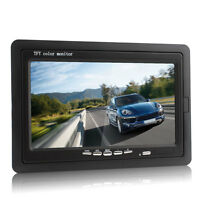 """HD 7"""" TFT LCD Color 2-CH DVD VCR Car Rear View Backup Headrest Monitor 1024*600"""