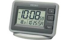 Seiko LCD Alarm Clock Keep An Eye On The Weather With Its Handy Temperature NEW