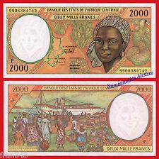 CENTRAL AFRICAN STATES REPUBLIC 2000 Francs 1999 Pick 303Ff  SC / UNC