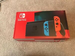 Nintendo Switch 32 GB Neon Blue and Red Console  (improved Battery)