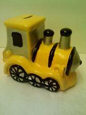 CERAMIC TRAIN ENGINE PIGGY-BANK   SPOTLESS!   >>>FAST SHIPPING