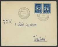 Norway Stamp Scott #B19 (x2) on 1941 First Day Cover during German Occupation