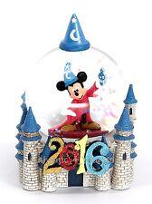 NEW Disney World 2016 Sorcerer Mickey Cinderella Castle Snow Globe Snowglobe