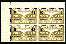 Germany Netherlands 1943 Nazi NSDAP Dues 73.80 RM Revenue WWII BLK UMM7B16 18