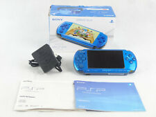 Sony PSP 3003 PlayStation Console Boxed Vibrant Blue Slim & Lite 1GB SD