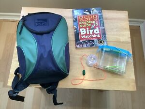 Official RSPB Children's Back Pack/ Ruck Sack. With Added Book/ Insect Viewers