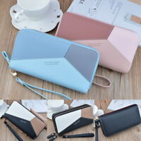 Women Lady Leather Wallet Long Zip Purse Coin Card Phone Holder Clutch Handbag