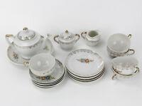 Vintage Porcelain Child's Tea Set  21 Pieces Made in Japan