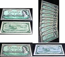 BANK OF CANADA 1954 $1 H/F ,BC37b-i TEN CONSECUTIVE ,BUY one OR all,GEM UNC