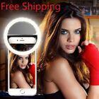 Selfie Ring Mobile Phone Clip Lens Light Lamp Led Bulbs Emergency Dry Battery