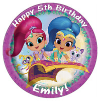 "Shimmer And Shine Personalised Birthday Cake Topper Edible 7.5"" Wafer Paper"