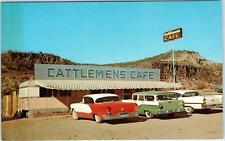 BURROW CREEK, AZ Arizona  CATTLEMAN'S CAFE  Cool 50s Cars  Roadside Postcard