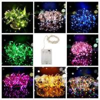 2M/3M/4M/5M LED String Fairy Light Wedding Party Xmas DeCOmp Battery Powered