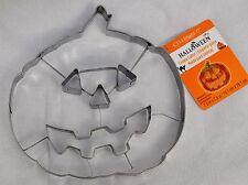 "Jumbo Pumpkin Cookie Cutter Metal 7-3/4"" 19.5cm Halloween Large Jack O Lantern"