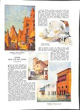 Exposition universelle Paris Peintures Style Art Déco Potier ILLUSTRATION  1937