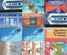 PHONECARDS – 24 INTERNATIONAL ASSORTED PHONE CARDS