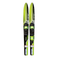 O'Brien Watersports Adult 67 inches Reactor Combo Water skis, Green and Black