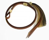 Showman Leather Over & Under Whip w/ Horse Hair Tassel & Split Leather End! NEW!