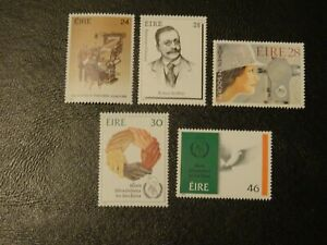 Ireland Stamps SG 646/650 set  5 MNH issued 1986 Anniversaries & Commemorations