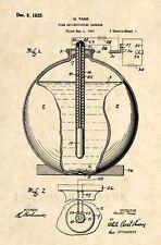 Official Fire Extinguisher Grenade US Patent Art Print - Antique Vintage 407