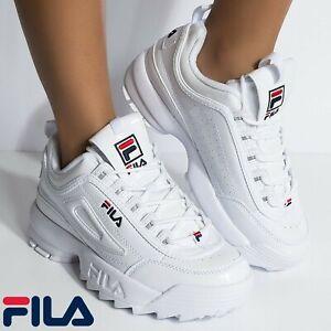 FILA Schuhe Sneaker Damen Disruptor Low Damenschuhe Turnschuhe Niedrig Weiß NEU
