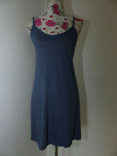 Neues MAUI WOWIE Träger Jerseykleid Gr XS Sommerkleid Blau Gestickte Details