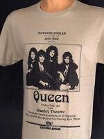 Queen Rock Band T Shirt Freddie Mercury Retro Concert Classic Bohemian Rhapsody