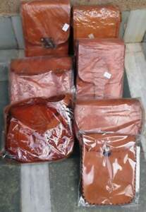 Wholesale Lot 5-Pc Indian Art Handmade Assorted Pure Leather Mini Bags