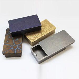 Outdoor EDC Brass / Titanium Alloy Storage Box Sealing Holder Container Case Box