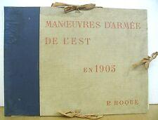 Manoeuvres d'Armee de l'est by P. Roque 1905 with 20 plates