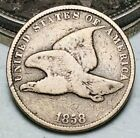 1858 Flying Eagle Cent One Penny 1C Ungraded Civil War Era Good US Coin CC6753