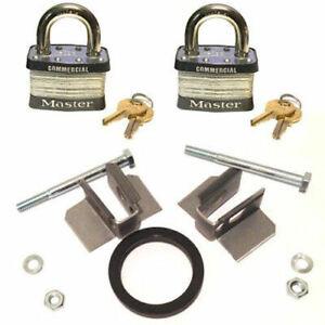 Delta JOBOX Fastener Kit 10318-410 + 2 Keyed Alike Commercial Padlocks
