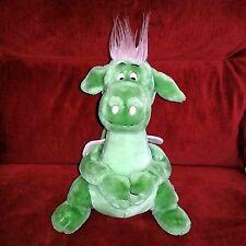 Vintage Disney Pete's Dragon ELLIOT Green Pink 15in Stuffed Plush Theme Parks