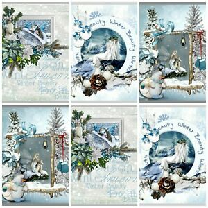 A CHRISTMAS FANTASY Card Making Toppers, Card Toppers (12)
