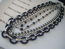 Lia Sophia Wayfarer Navy Necklace RV $168