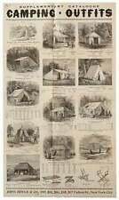 Large Trade Catalog Broadside Supplementary Catalogue Camping Outfits / 1883