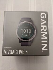 Garmin vivoactive 4 GPS Smartwatch with Music, HR, Ox Sensors, 45mm Silver/Gray