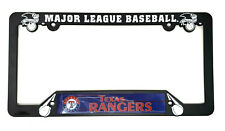 Texas Rangers License Plate Frame Black MLB Baseball