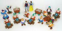Snow White and the Seven Dwarfs Mattel Figurines Disney PVC Figures 16+1 Pcs Set